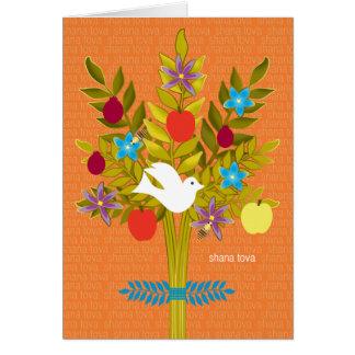 Tarjeta Árbol de las flores y de la fruta de la paloma de