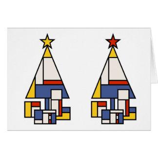 Tarjeta Árbol de Mondrian en estéreo