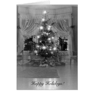 Tarjeta Árbol de navidad antiguo