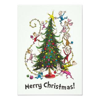 Tarjeta Árbol de navidad clásico de Grinch el |