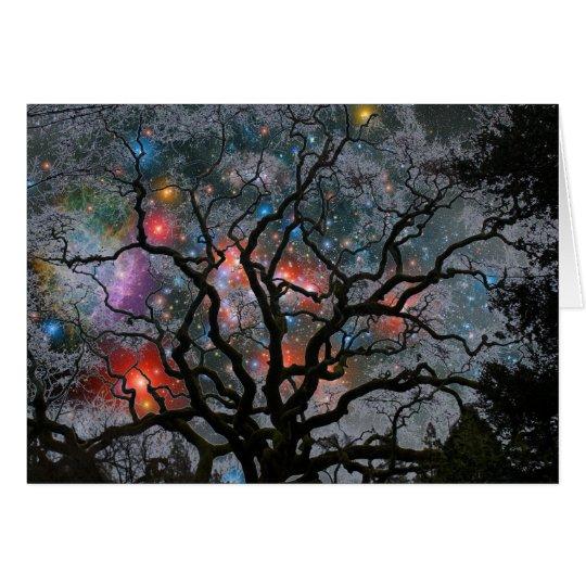 Tarjeta Árbol de navidad cósmico - 2