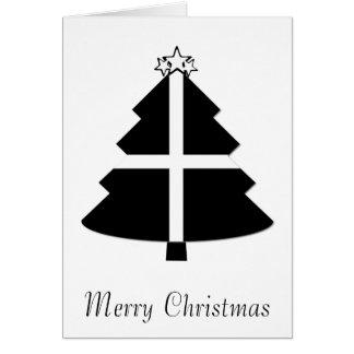 Tarjeta Árbol de navidad de Cornualles de la bandera