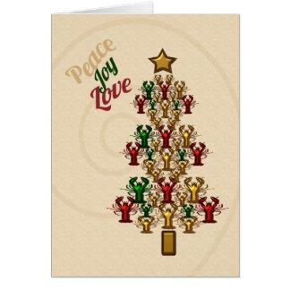 Tarjeta Árbol de navidad de la alegría del amor de la paz