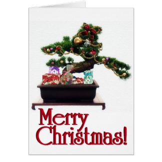 Tarjeta Árbol de navidad de los bonsais