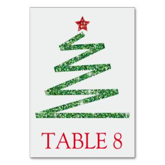 Tarjeta Árbol de navidad del brillo