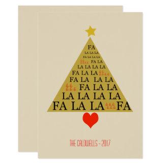 Tarjeta Árbol de navidad del oro de la tipografía de la