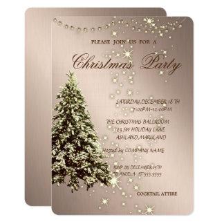 Tarjeta Árbol de navidad elegante, chispa, fiesta de