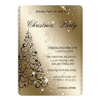 Tarjeta Árbol de navidad elegante, fiesta de Navidad