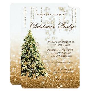 Tarjeta Árbol de navidad elegante, purpurinoso, fiesta de