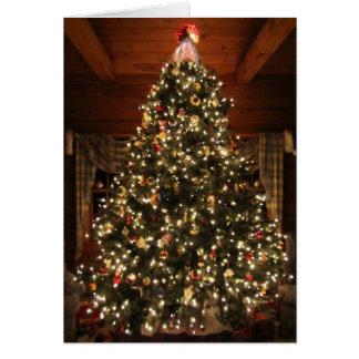 Tarjeta Árbol de navidad encendido Card2