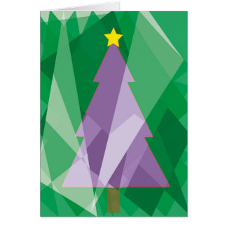 Tarjeta Árbol de navidad geométrico