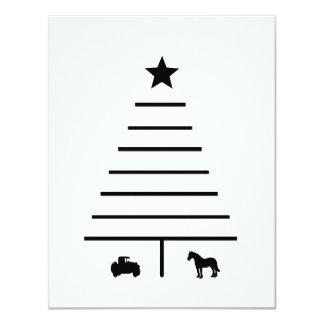 Tarjeta Árbol de navidad minimalista