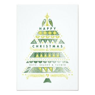 Tarjeta Árbol de navidad texturizado MOD