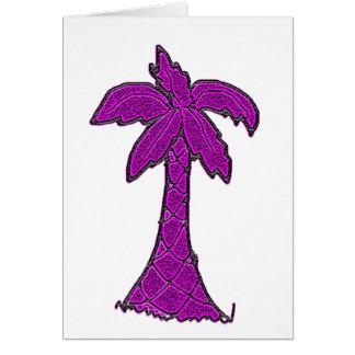 Tarjeta árbol del palmetto de Carolina del Sur