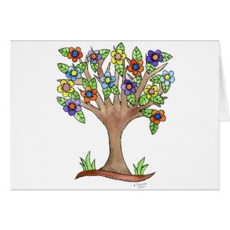 Tarjeta Árbol floreciente