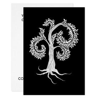 Tarjeta árbol por la abadía adoptiva