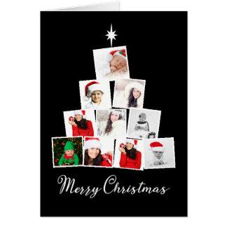 Tarjeta Árbol y navidad personalizado estrella