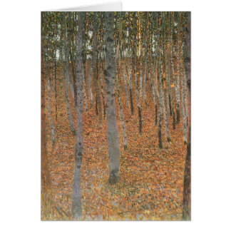 Tarjeta Arboleda I de la haya de Gustavo Klimt-