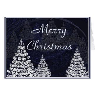 Tarjeta Árboles de navidad estilizados