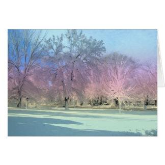 Tarjeta [Árboles del hielo de la nieve del país de las