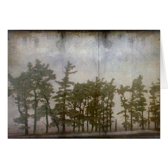 Tarjeta Árboles del invierno