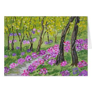 Tarjeta Árboles y flores de Dixie