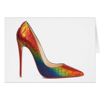 Tarjeta Arco iris de los zapatos de Christian Louboutin de