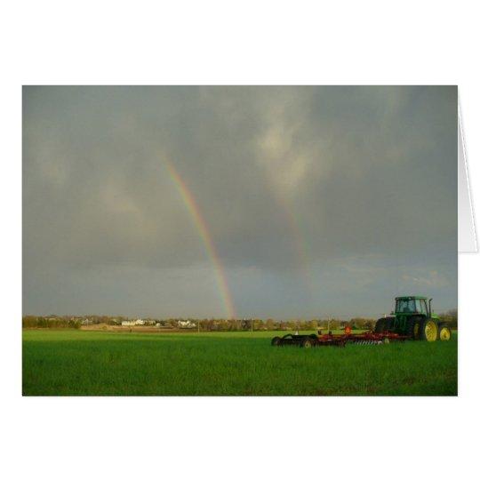 Tarjeta Arco iris doble en Farmfield