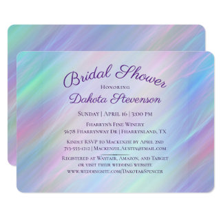 Tarjeta Arco iris en colores pastel iridiscente de la