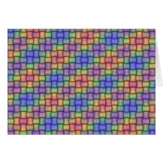 Tarjeta Arco iris tejido - tarjeta, sello y sistema hecho