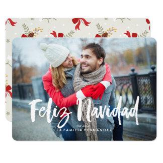 Tarjeta Arcos festivos Feliz Navidad