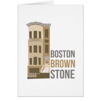 Tarjeta Arenisca de color oscuro de Boston