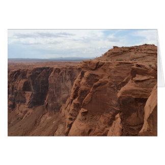 Tarjeta ARIZONA - curva de herradura C - roca roja