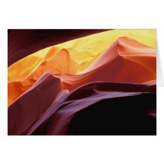 Tarjeta Arizona, formaciones de la piedra arenisca del