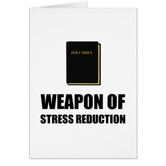 Tarjeta Arma de la biblia de la reducción del estrés