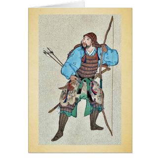Tarjeta Armadura que lleva del samurai y llevar a cabo un