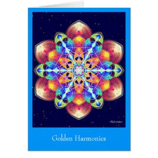 Tarjeta Armónicos de oro