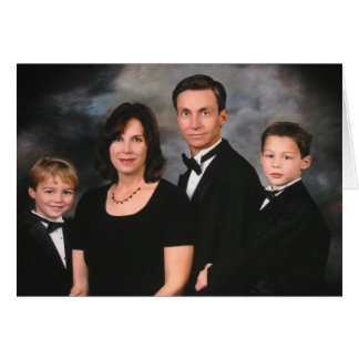 Tarjeta Arreglo del contraste de la familia de Fourcher