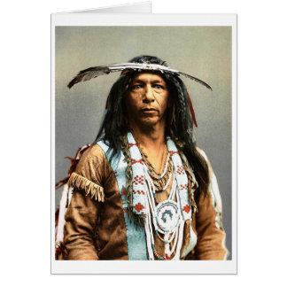 Tarjeta Arrowmaker, Ojibwa valiente, 1903
