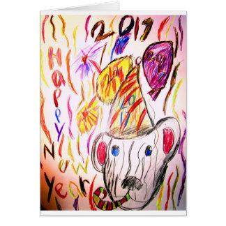 Tarjeta arte 2017 2 del Año Nuevo