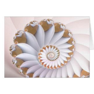 Tarjeta Arte abstracto lindo del Seashell del nautilus