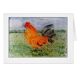 Tarjeta Arte colorido de Cockeral