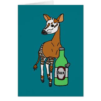 Tarjeta Arte de consumición de la cerveza del Okapi
