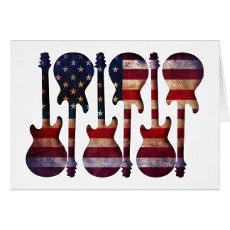 Tarjeta Arte de la guitarra de la bandera americana