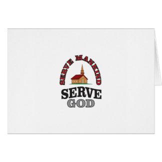Tarjeta arte de la humanidad del servicio de dios del