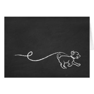 Tarjeta arte de la tiza del perrito