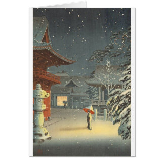 Tarjeta Arte de Shin Hanga de la venta de la capilla de