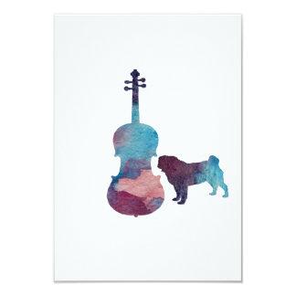 Tarjeta Arte del barro amasado de la viola