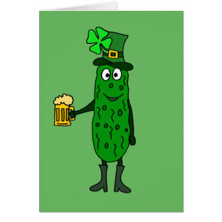 Tarjeta Arte del día de St Patrick divertido de la