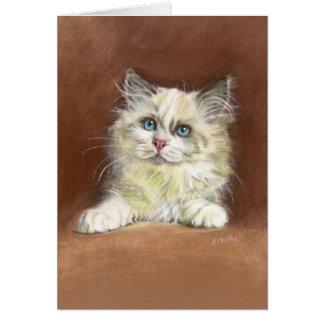 Tarjeta Arte del gatito de la muñeca de trapo